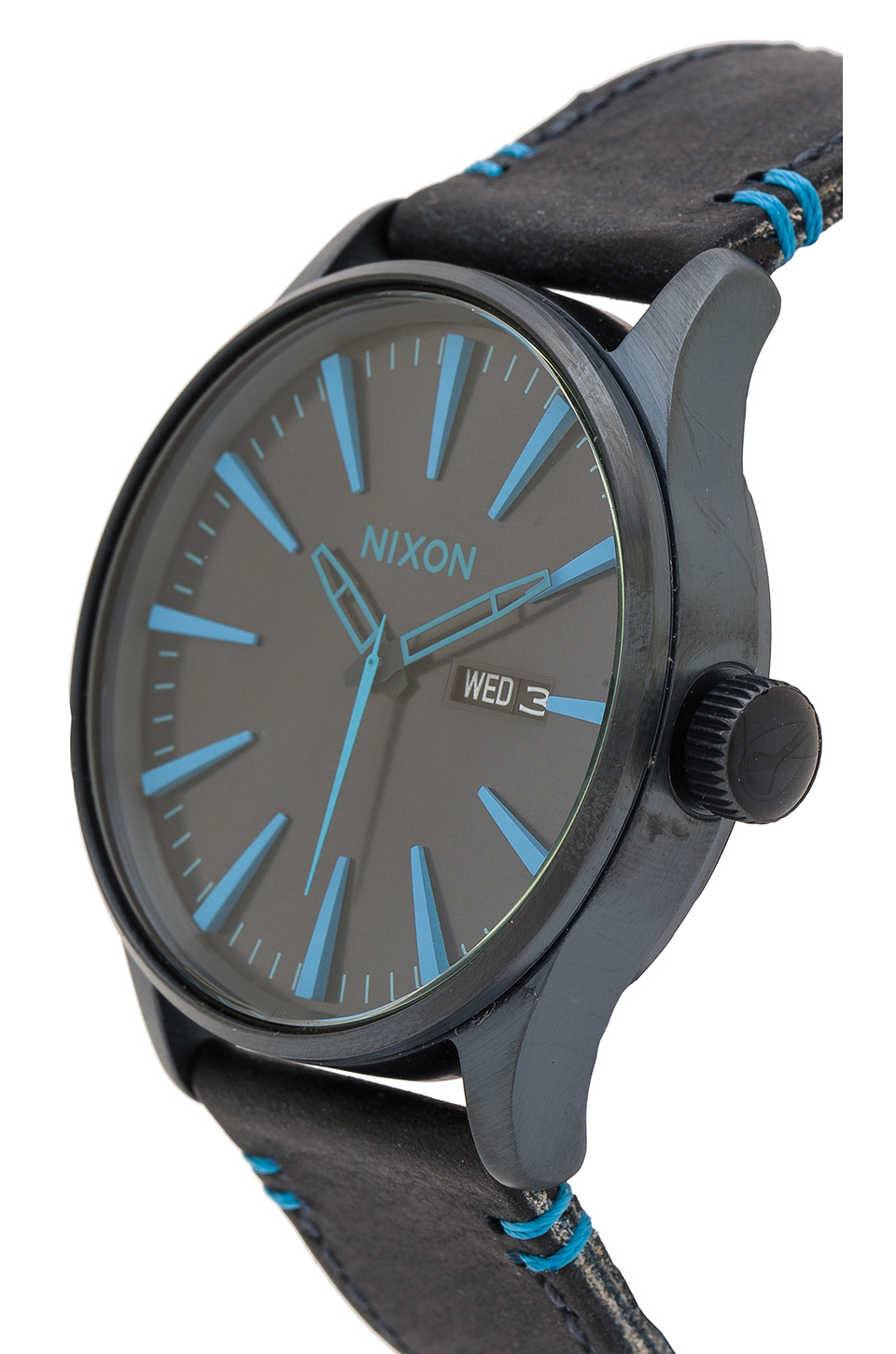 Lyst - Nixon The Sentry Leather in Blue 235a98ab4