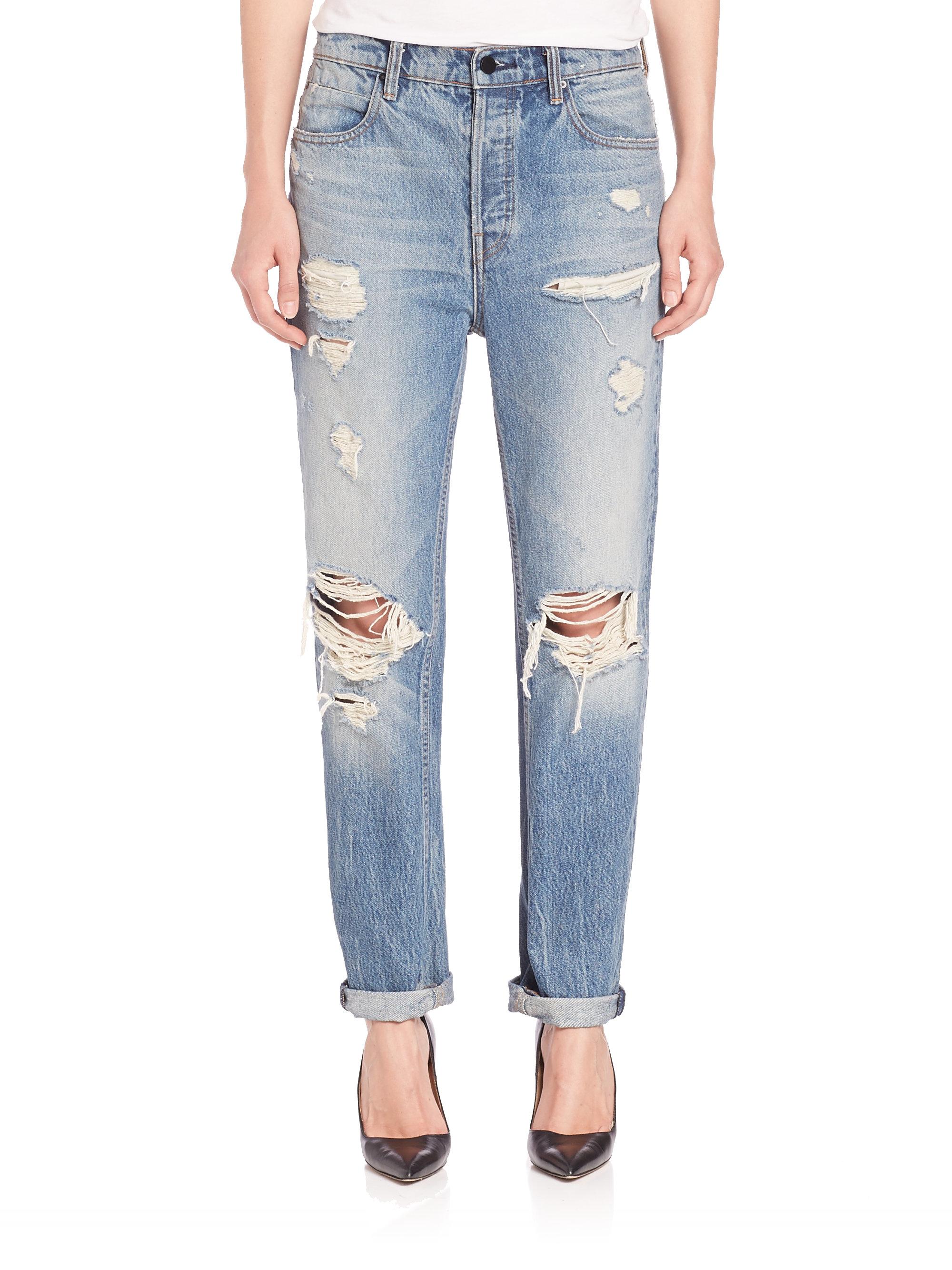 For Sale Sale Online Clearance Online Official Site boyfriend jeans - Blue Alexander Wang Outlet Amazon Official Sale Exclusive W2Wm7tk8