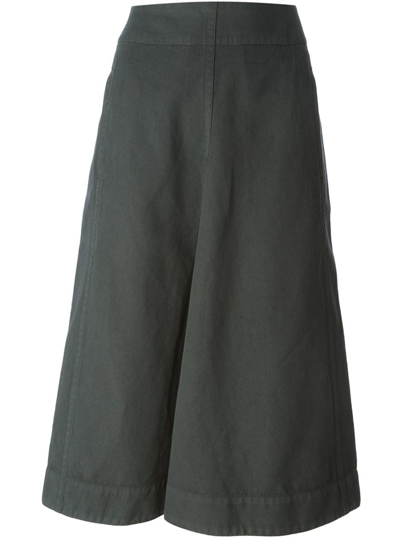 Lemaire A-Line Midi Skirt in Gray | Lyst