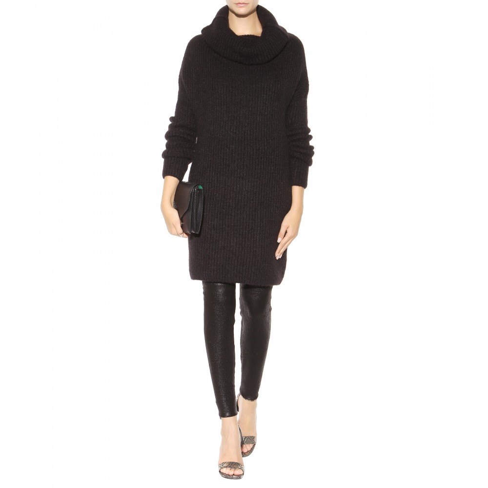 haider ackermann mohair blend sweater dress in black lyst. Black Bedroom Furniture Sets. Home Design Ideas