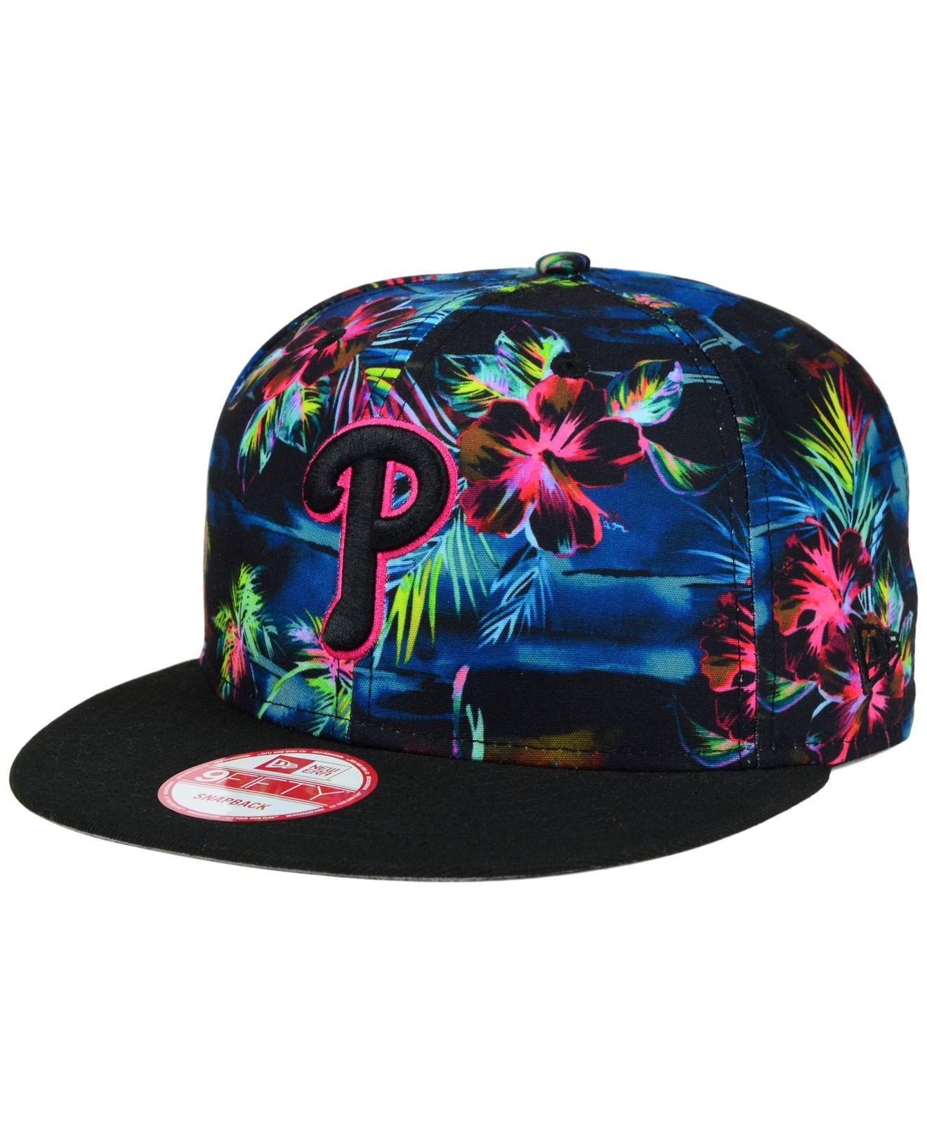 b5a5ba7cbe0 Lyst - KTZ Philadelphia Phillies Dark Tropic 9fifty Snapback Cap in ...