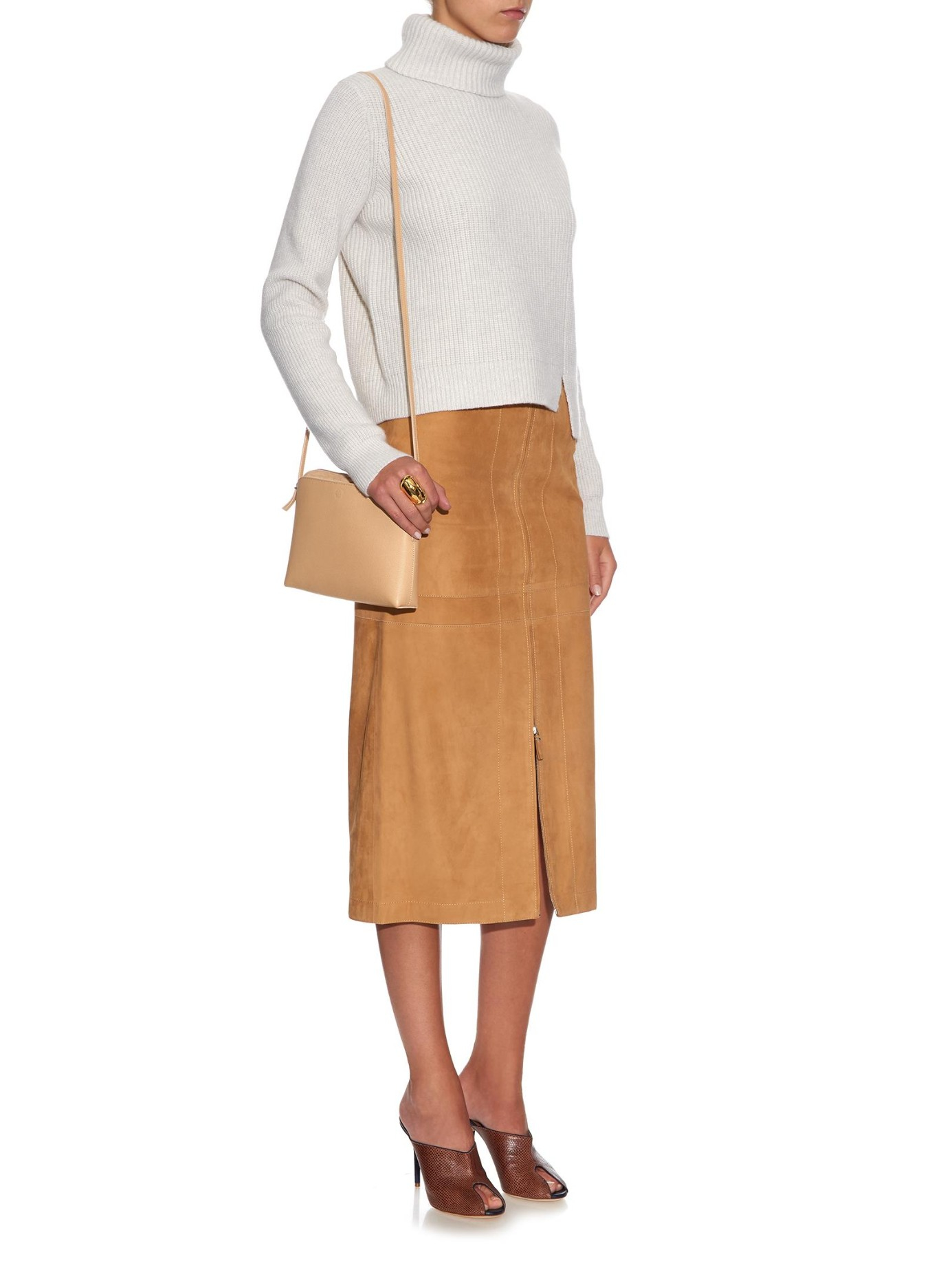 The row Multi Pouch Cross-Body Bag in Natural