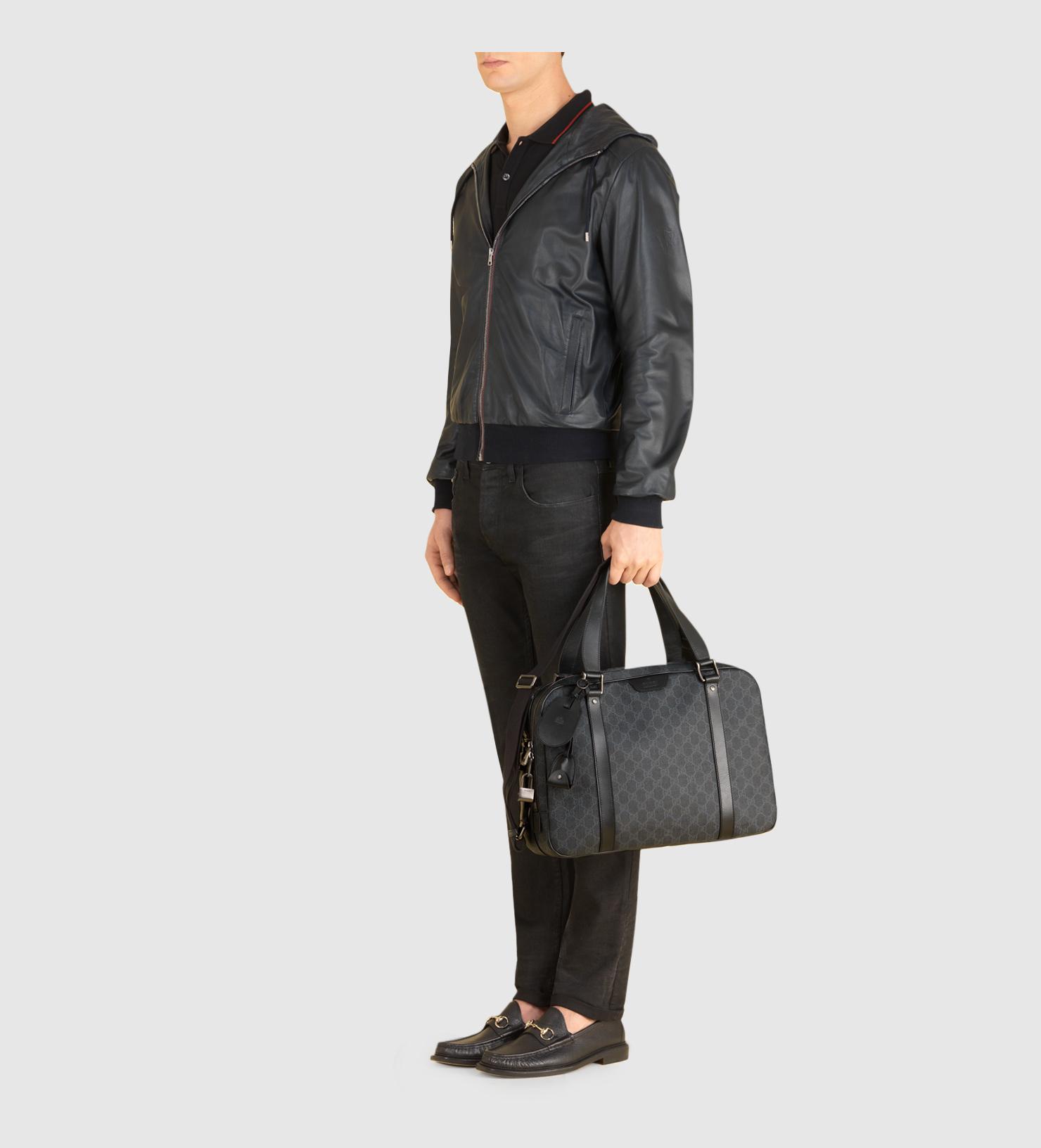 ff85368ddbf9 Gucci Gg Supreme Canvas Briefcase in Black for Men - Lyst