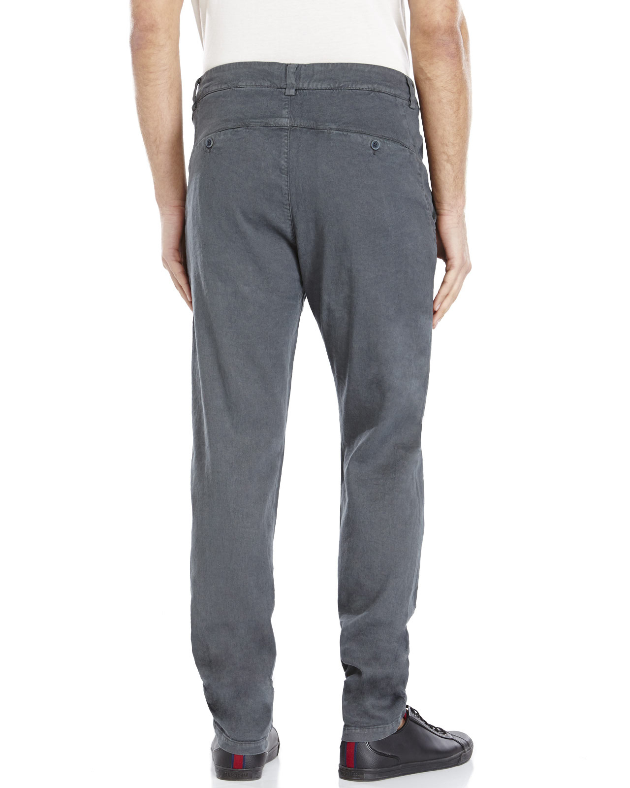 Transit uomo Dark Grey Tapered Leg Linen Pants in Gray for Men | Lyst