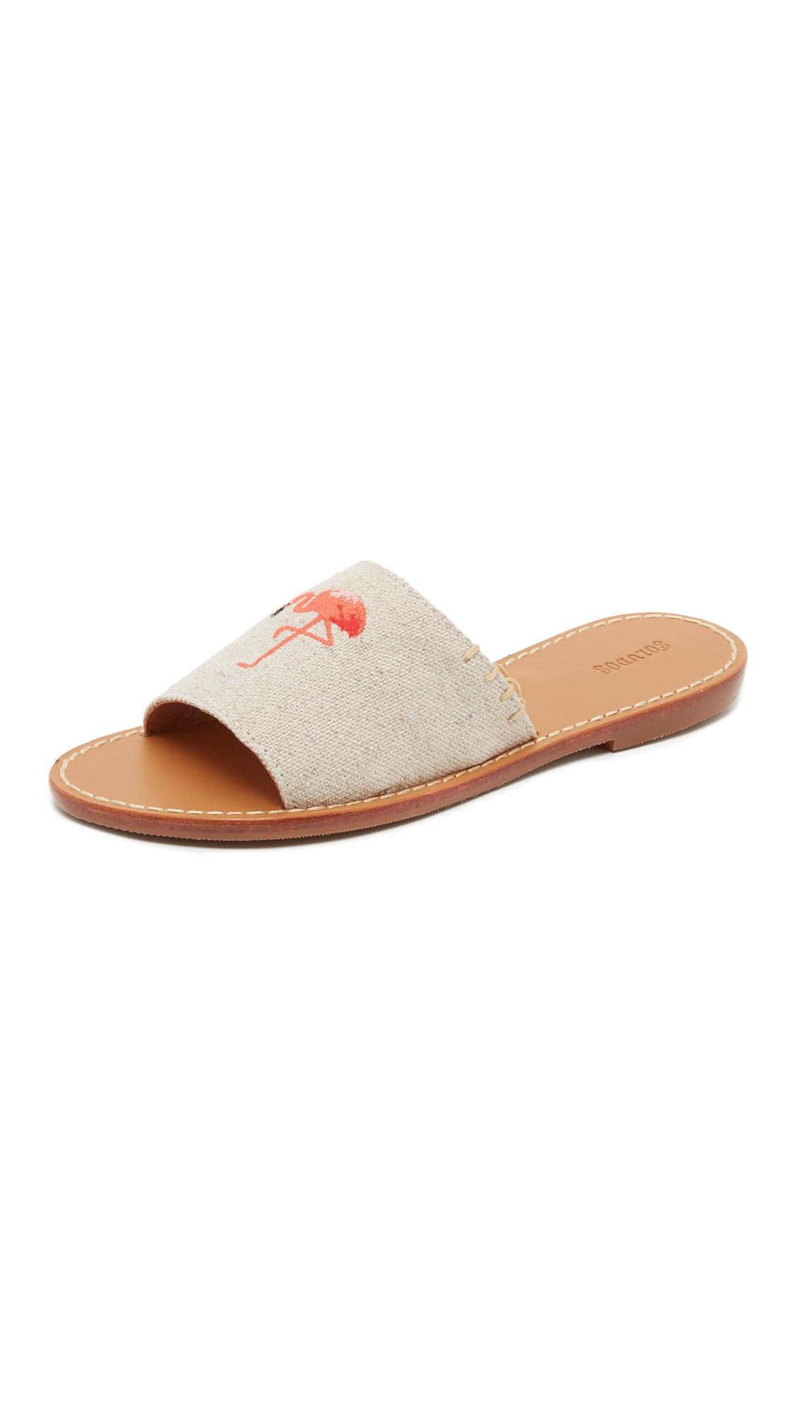Lyst Soludos Flamingo Slide Sandals In Natural