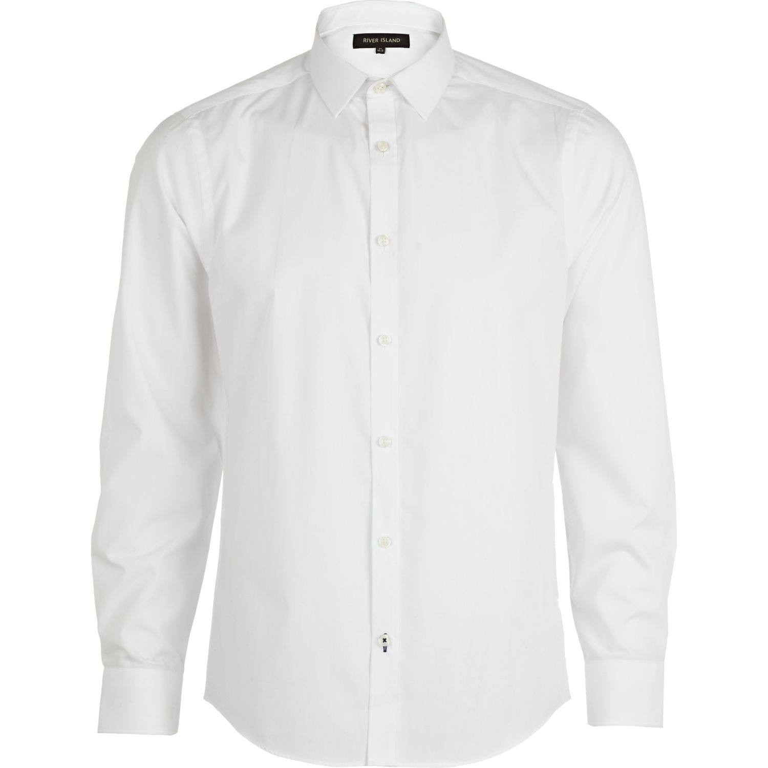 river island white sleeve shirt in white for lyst