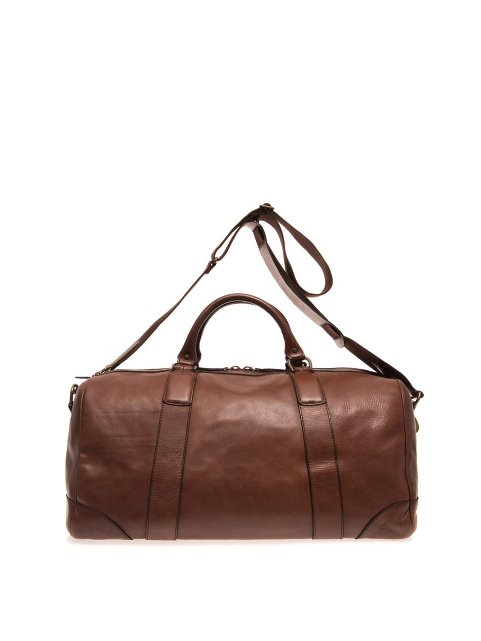 Lyst - Polo Ralph Lauren Leather Travel Bag in Brown for Men 51864d28c9