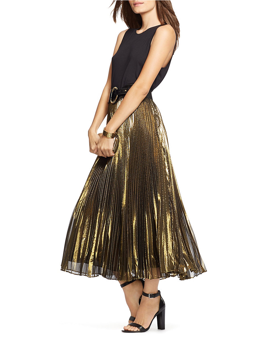 Lauren Ralph Lauren Väskor : Lyst lauren by ralph petite metallic pleated