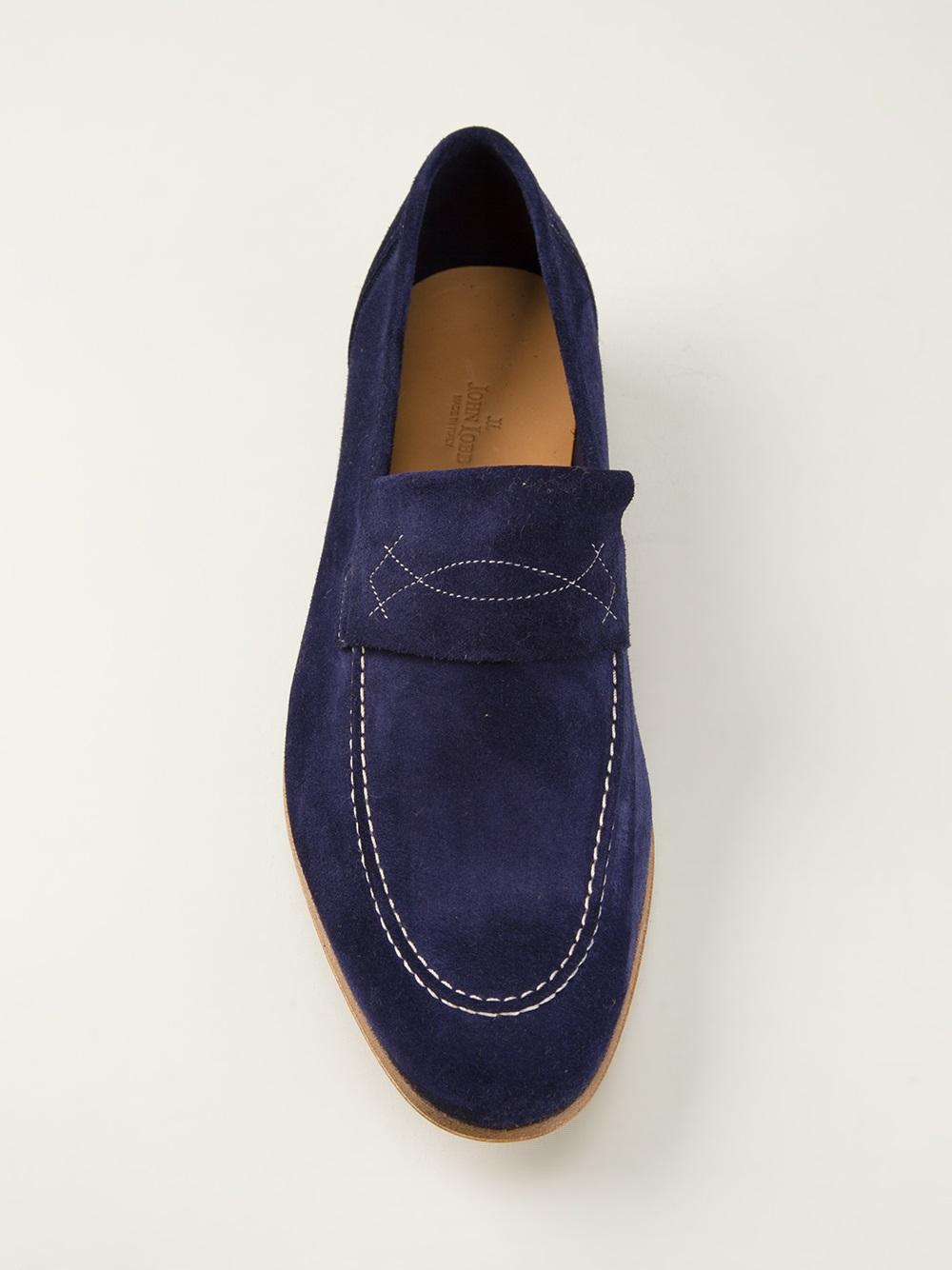 John Lobb Shoes >> Lyst - John Lobb 'yardley' Loafer in Blue for Men