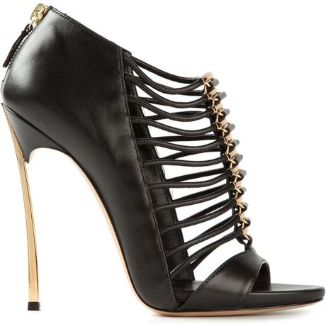 casadei cage sandals in black lyst