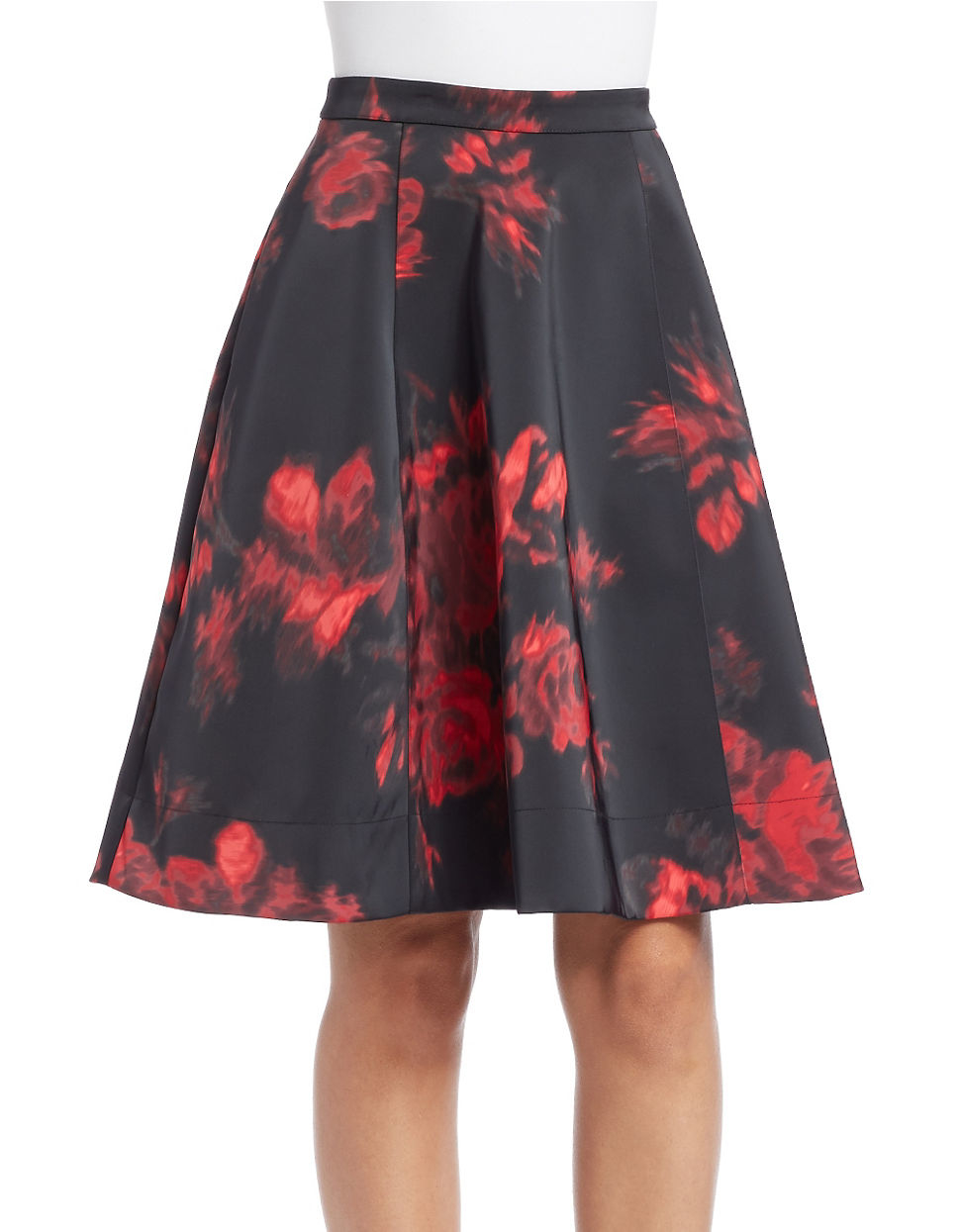 Essentiel antwerp Floral-print A-line Skirt in Gray | Lyst