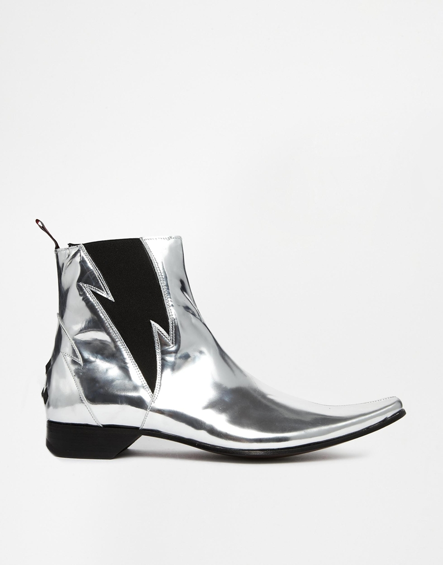 jeffery west lightning chelsea boots in metallic for men lyst. Black Bedroom Furniture Sets. Home Design Ideas