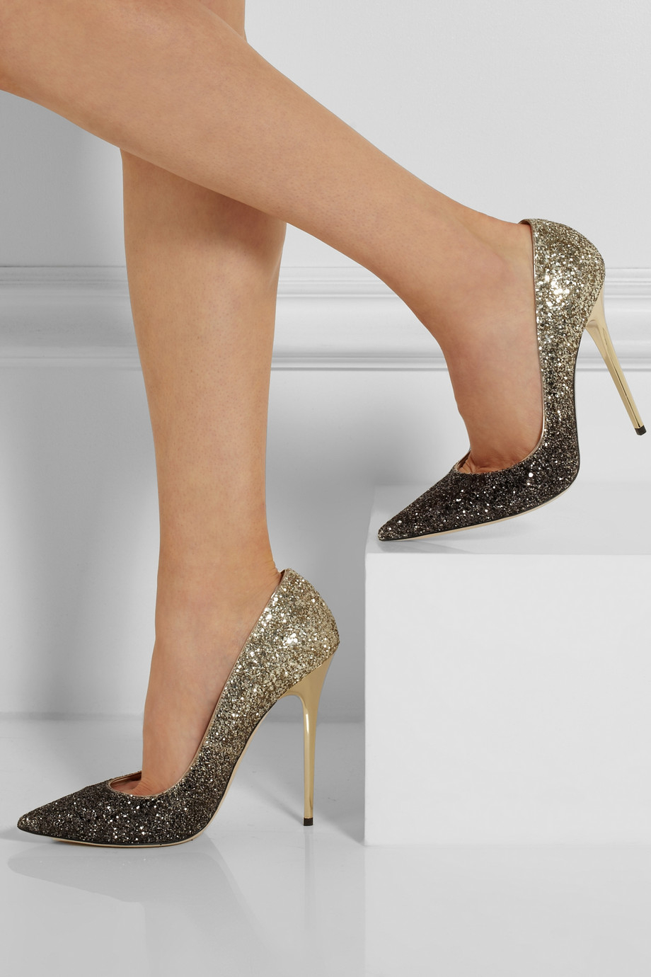 Jimmy Choo Shoes Black And Gold