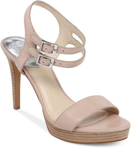 vince camuto renalla platform sandals in beige sandbar