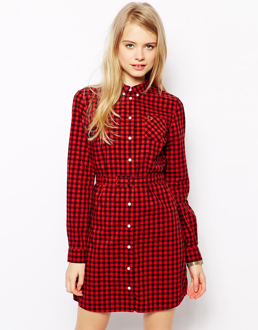 Fred perry red dress for girls