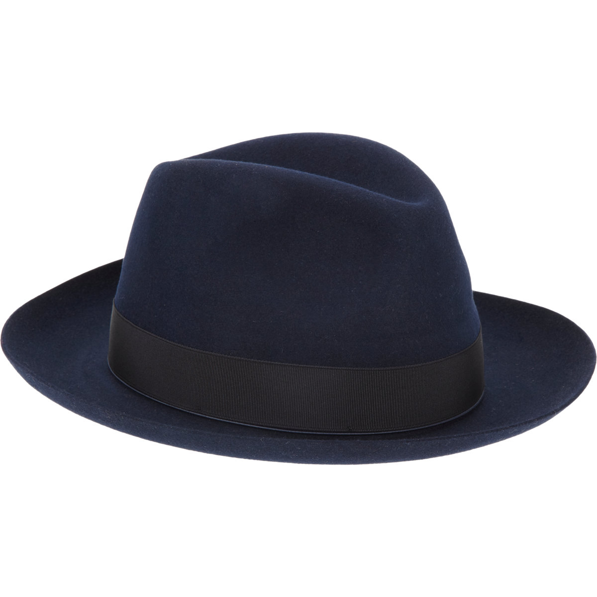 Lyst - Borsalino Rabbit Fur Felt Fedora in Blue for Men 14d5839d672