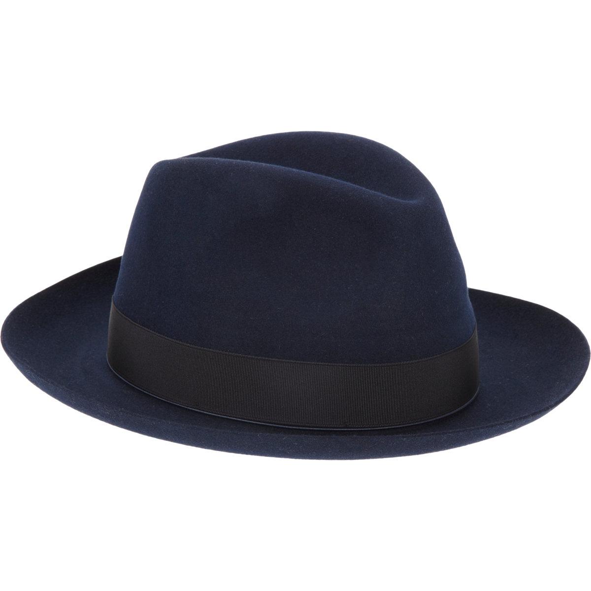 Lyst - Borsalino Rabbit Fur Felt Fedora in Blue for Men b3536ffb6fe
