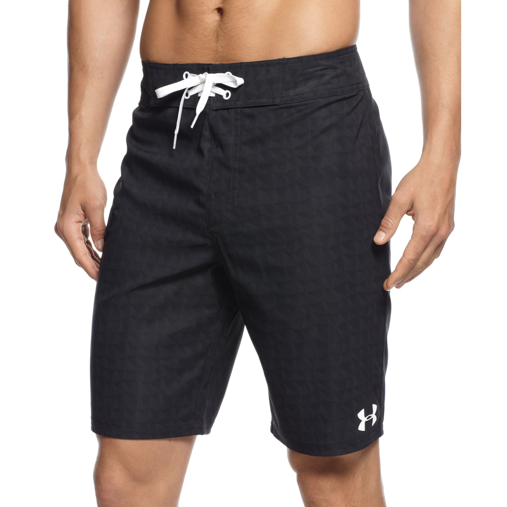 Lyst under armour geomtric print performance board for Under armour swim shirt