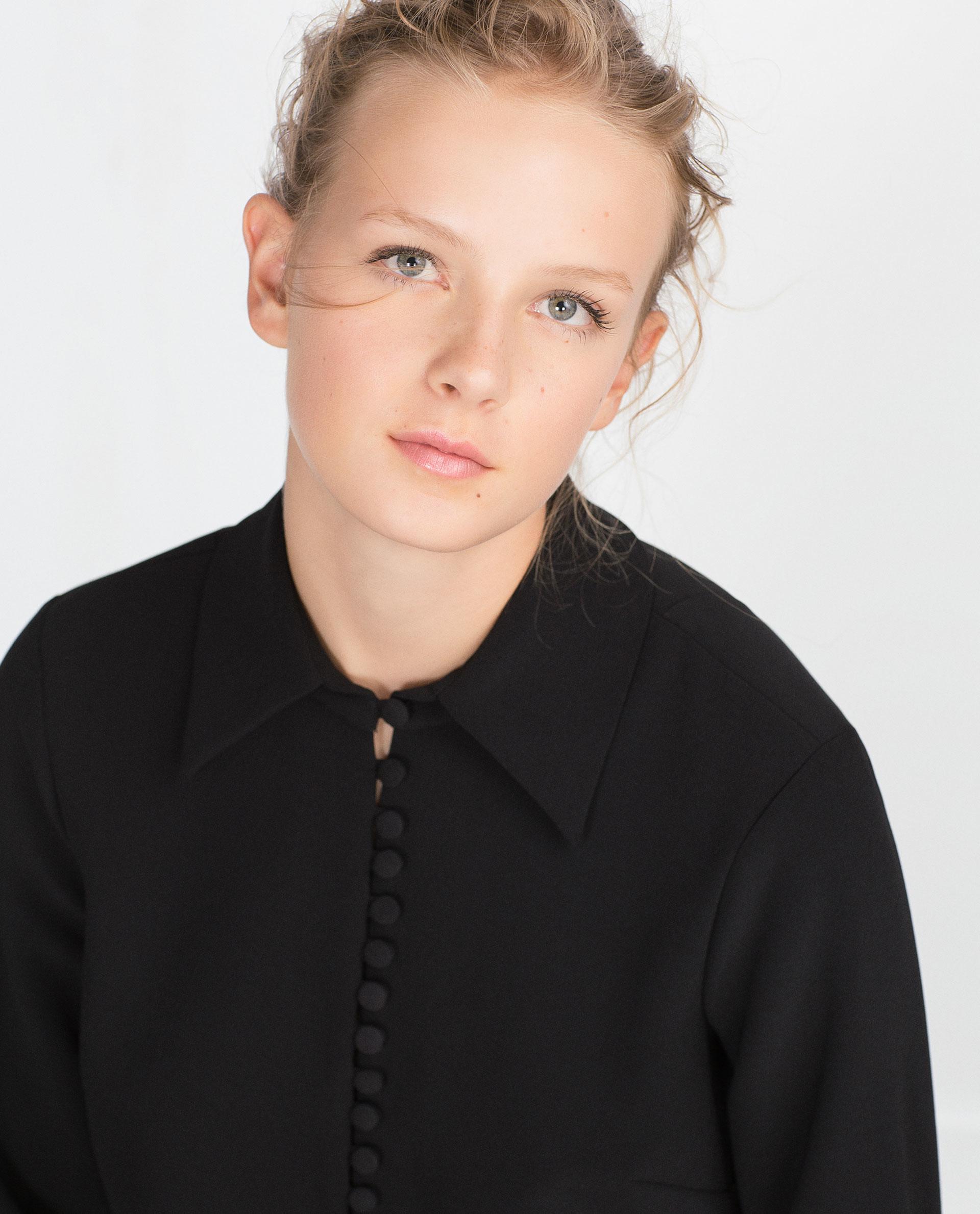 Zara Silk Covered Button Blouse 87