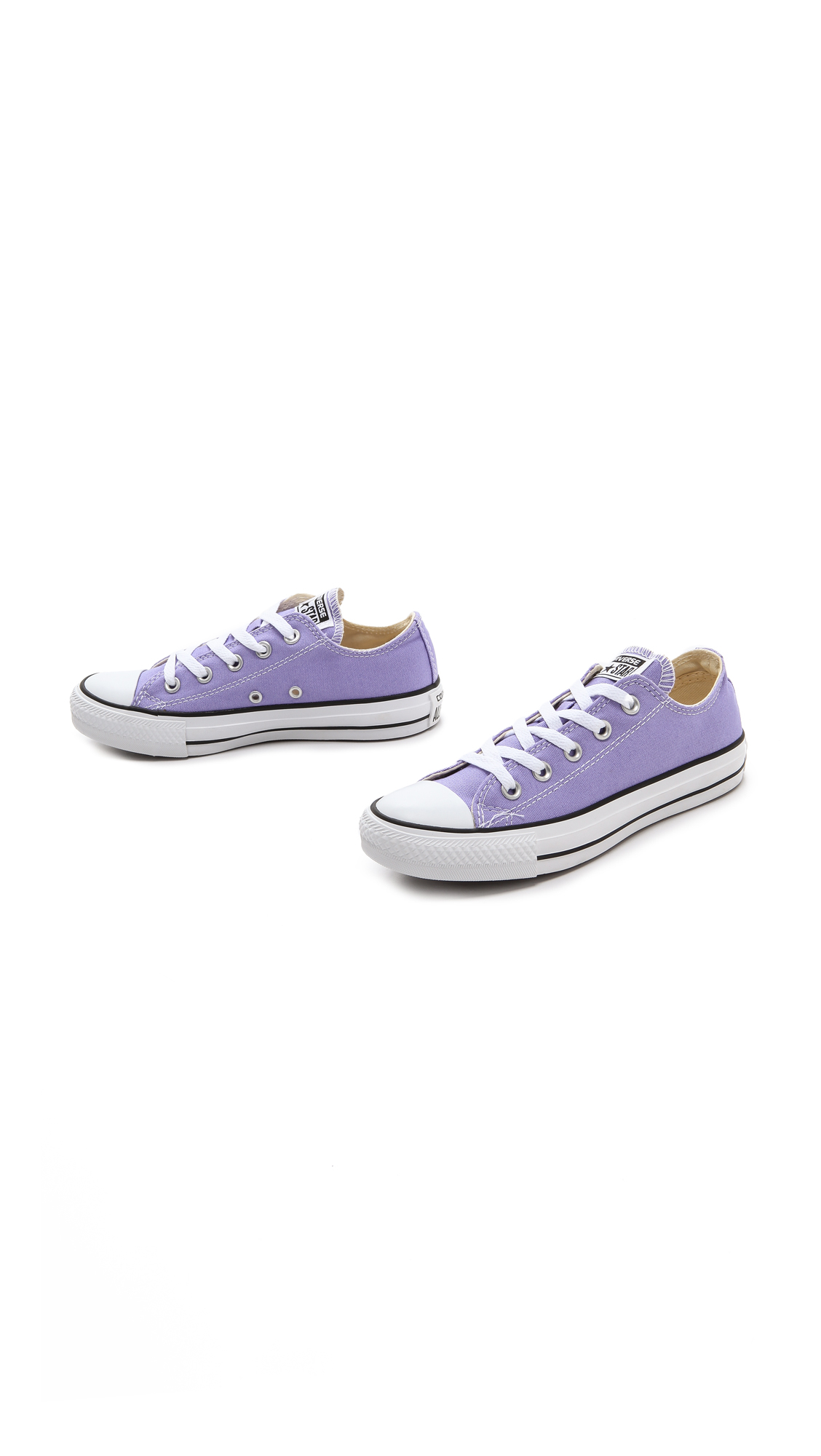 af63d796519a2 Lyst - Converse Low Top Ox Sneakers Lavender in Purple