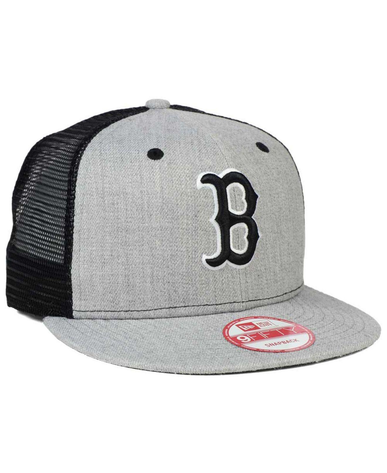 20fed455 KTZ Boston Red Sox Heather Trucker 9fifty Snapback Cap in Gray for ...