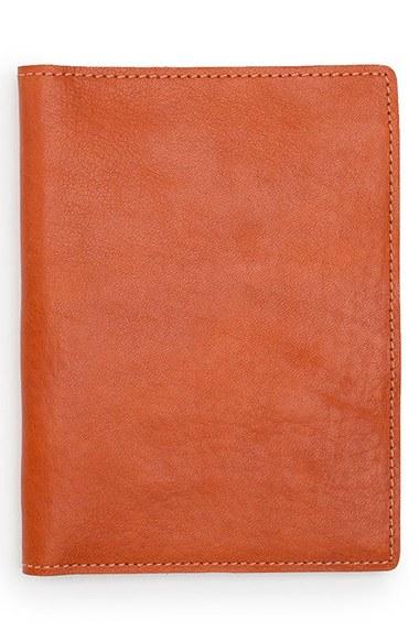 Lyst Shinola Leather Passport Wallet In Orange