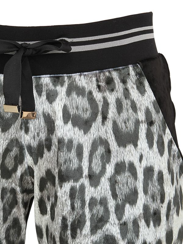 7fcc6c31fd43 Lyst - Roberto Cavalli Leopard Printed Jogging Pants in Black