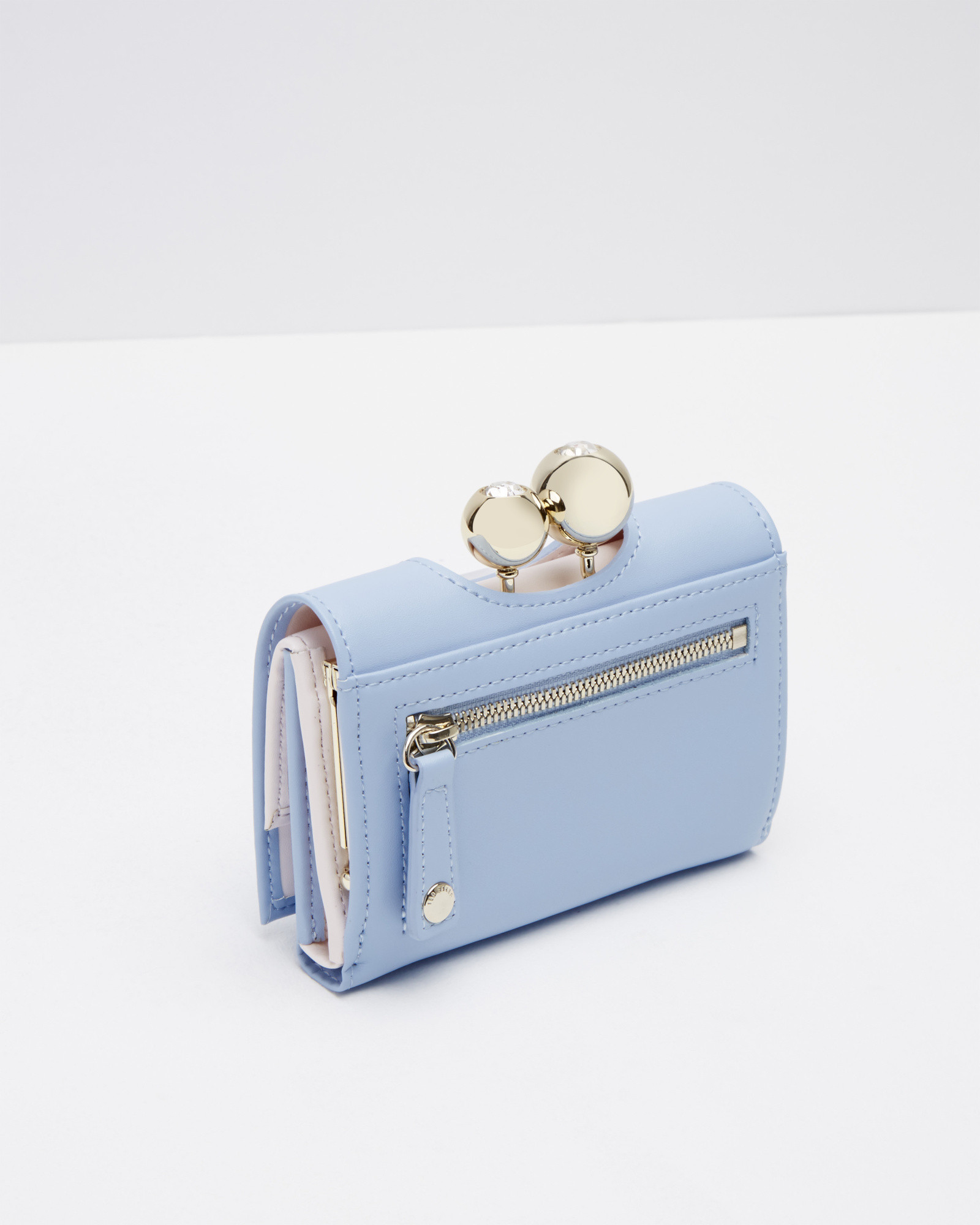 bb1d2857c8a46 Lyst - Ted Baker Leather Crystal Bobble Small Purse in Blue