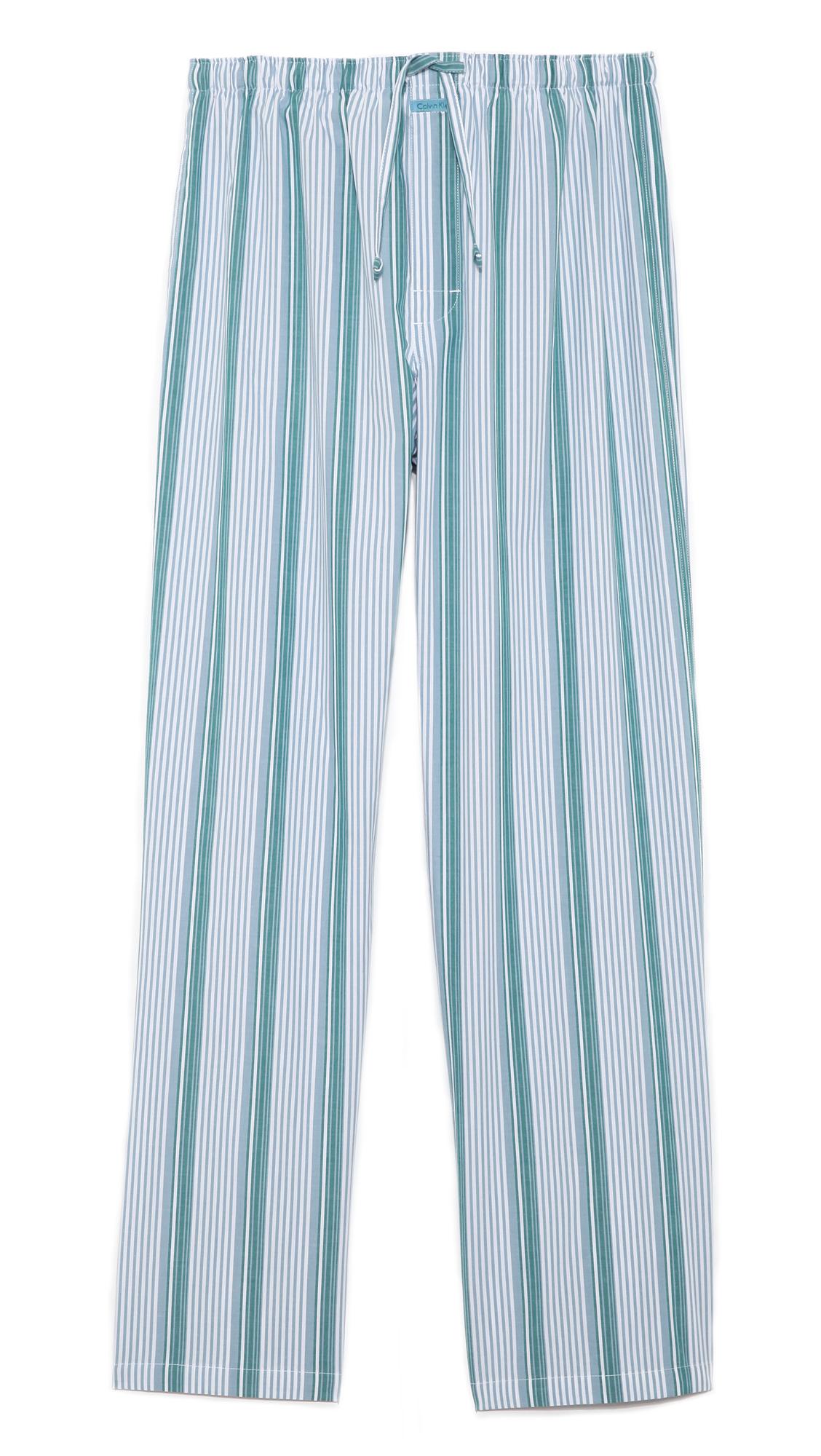 Calvin Klein Pj Pants In Blue For Men Metropolitan Stripe