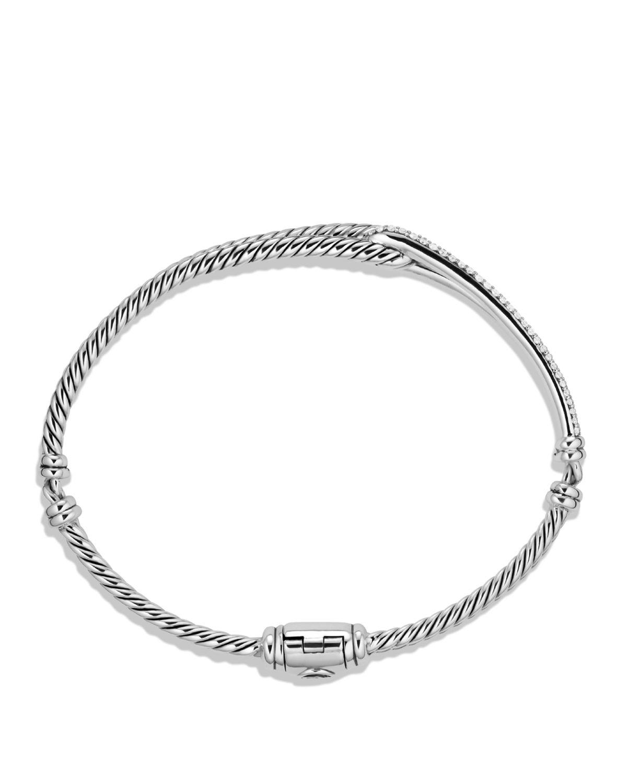 David Yurman Petite Pav 233 Labyrinth Single Loop Bracelet