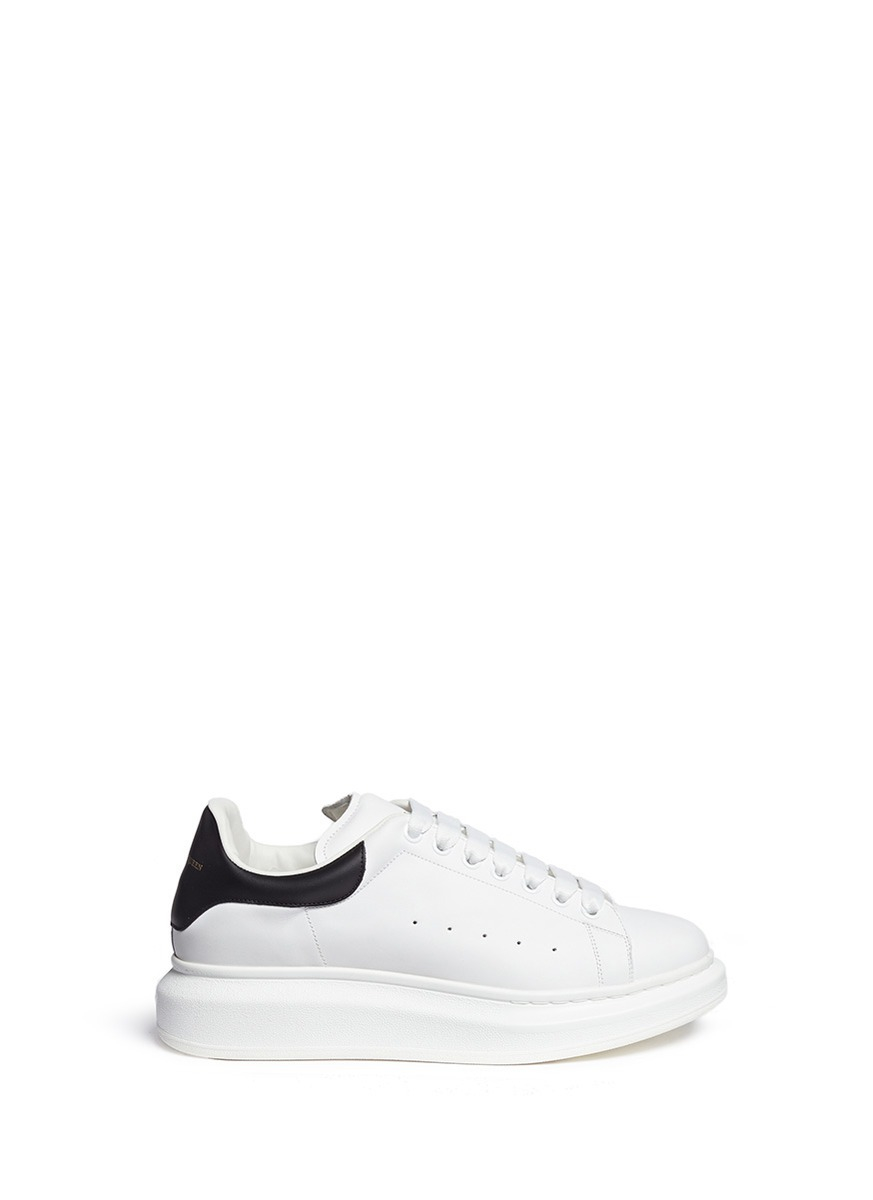 dca0829eac07 Lyst - Alexander McQueen  larry  Chunky Outsole Leather Sneakers in ...