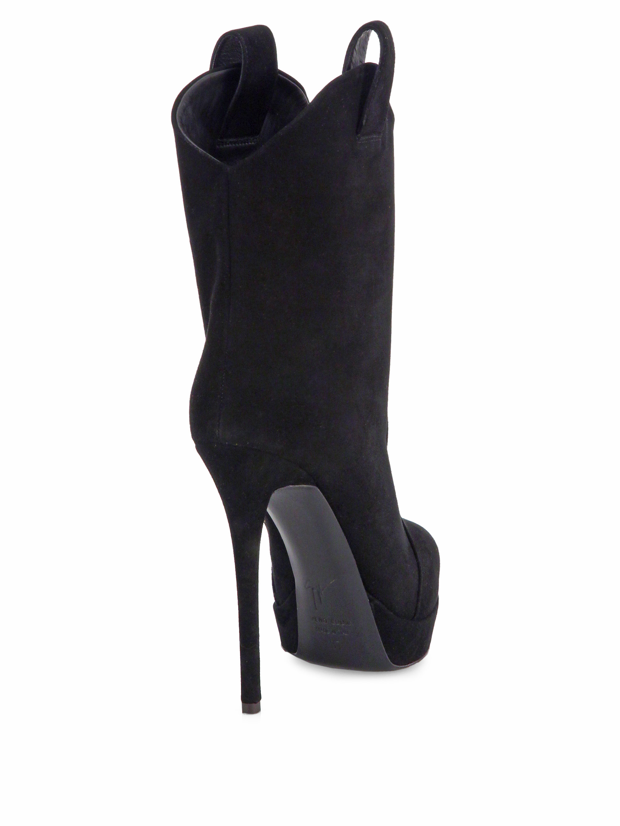 for cheap sale online cheap popular Giuseppe Zanotti Suede Platform Ankle Booties cheap sale 100% authentic 64F8KN