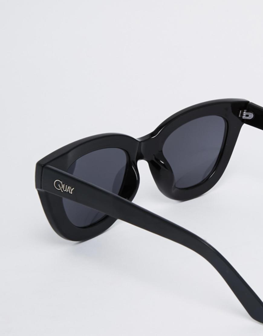 39efb3e974 Lyst - Quay Sugar   Spice Cat Eye Sunglasses in Black