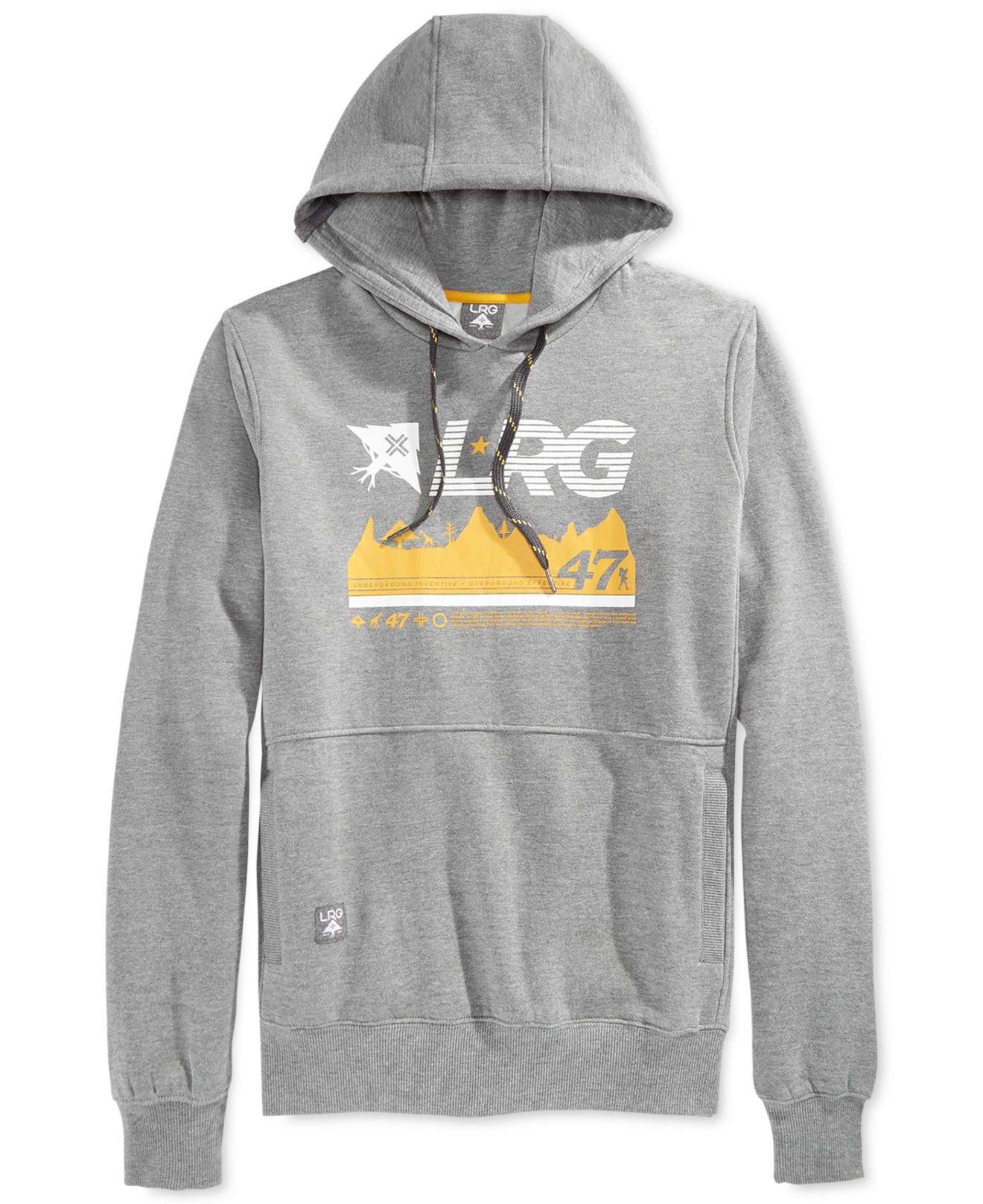 Lrg Big And Tall Logo Fleece Hoodie In Gray For Men Lyst