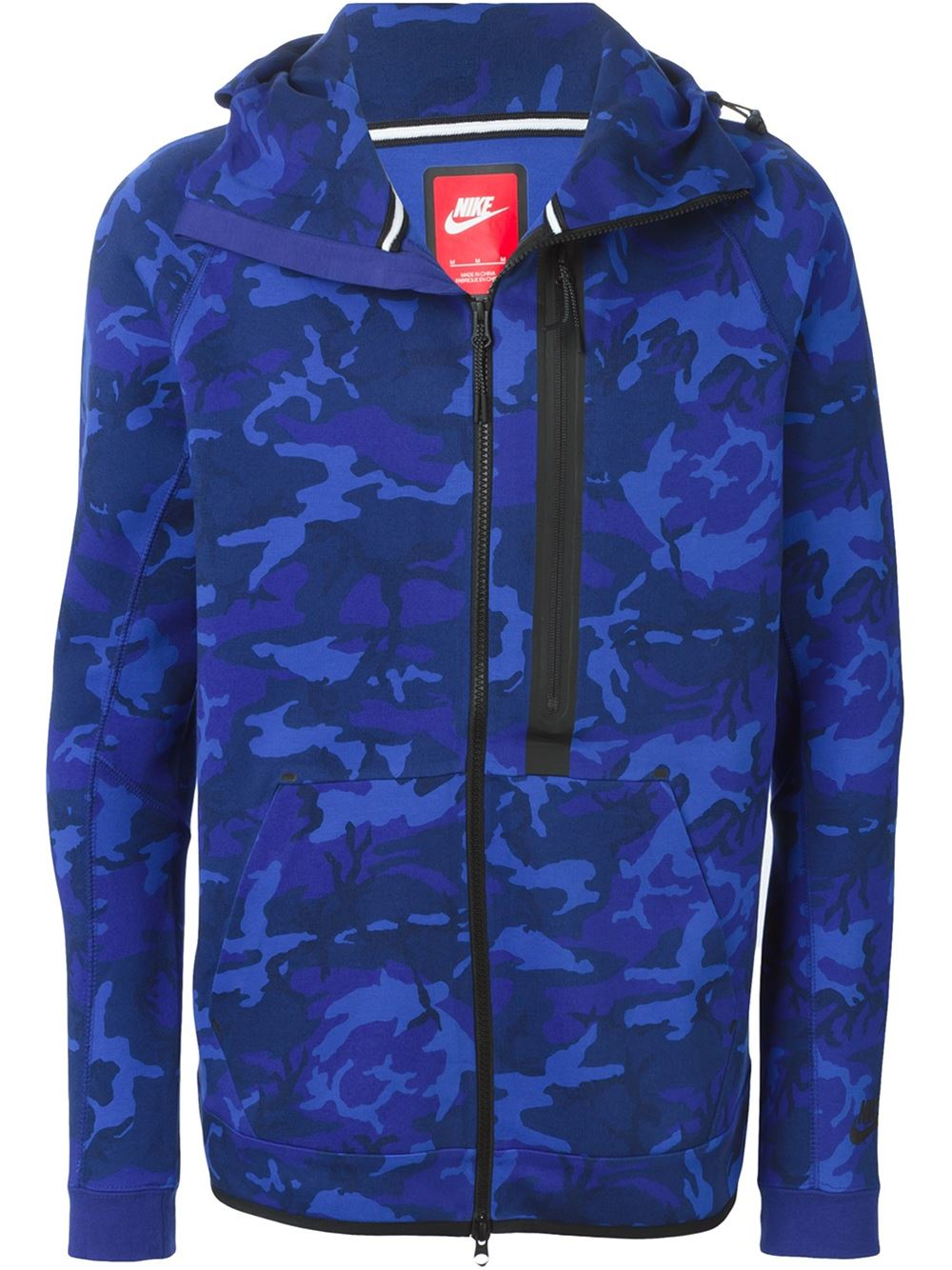 nike 39 tech fleece 39 hoodie in blue for men lyst. Black Bedroom Furniture Sets. Home Design Ideas