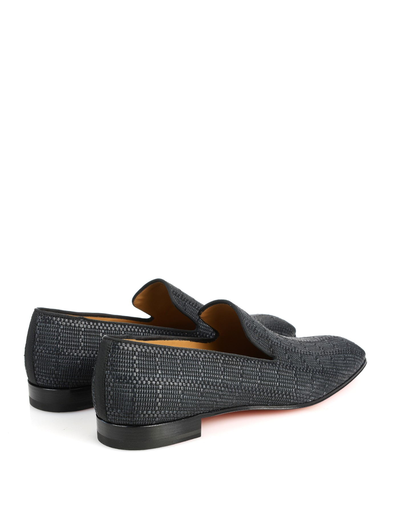 51795b26c2b3 louis vuitton spiked sneakers - Christian louboutin Dandelion Woven Loafers  in Gray for Men (BLACK. Christian louboutin Laperouza Patent Crest ...