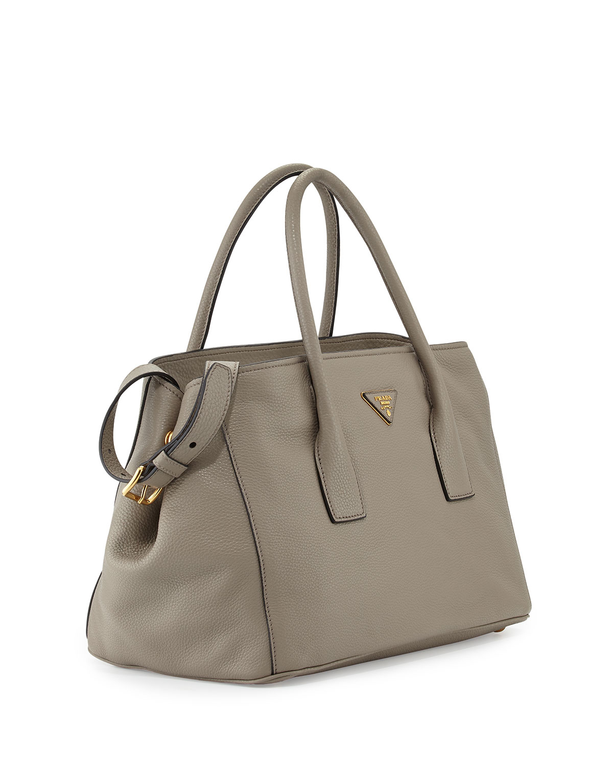 265417a0aa94 ... shopping prada vitello daino garden tote bag in gray greyargilla lyst  860f8 86680