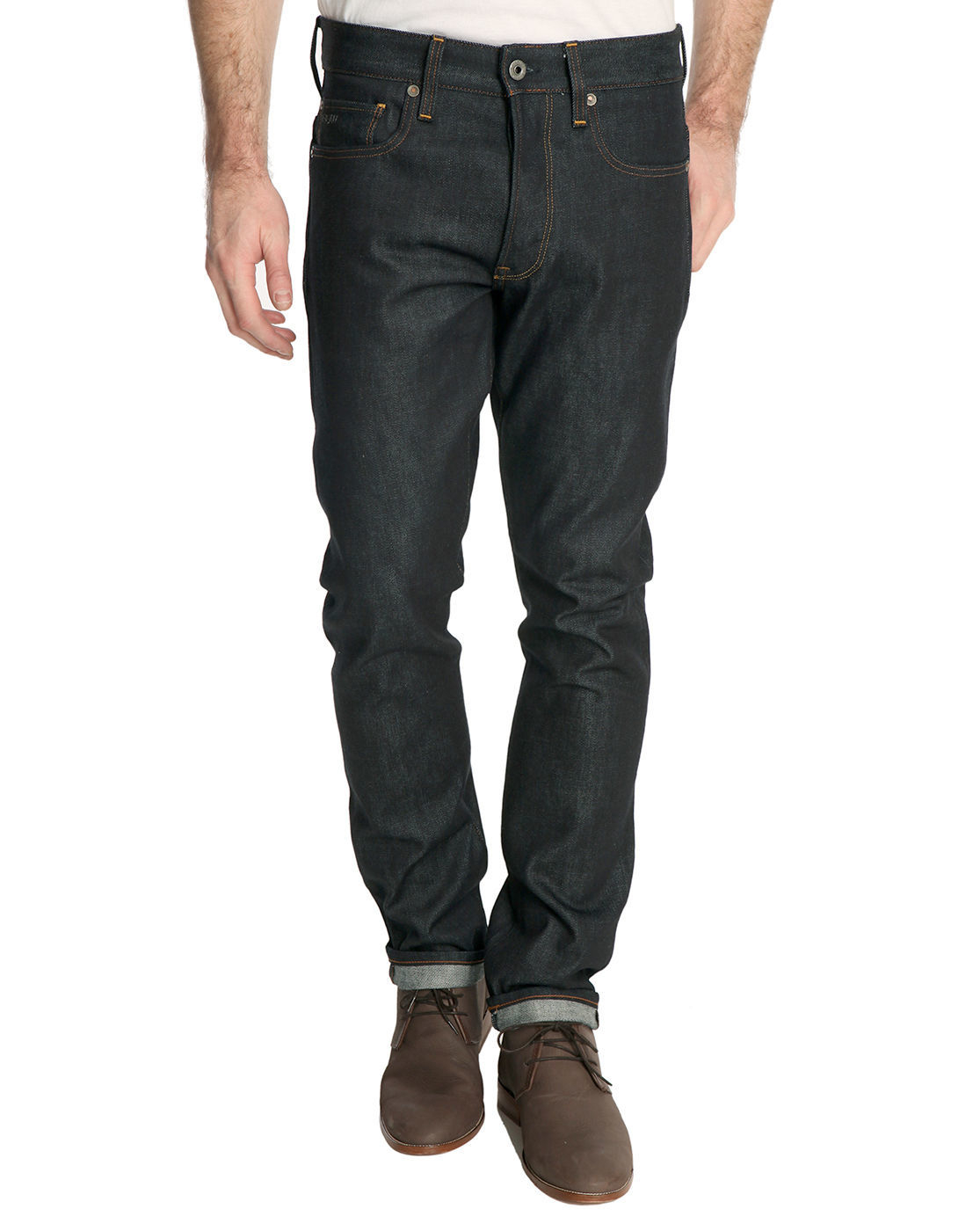 g star raw 3301 raw denim tapered jean in blue for men. Black Bedroom Furniture Sets. Home Design Ideas