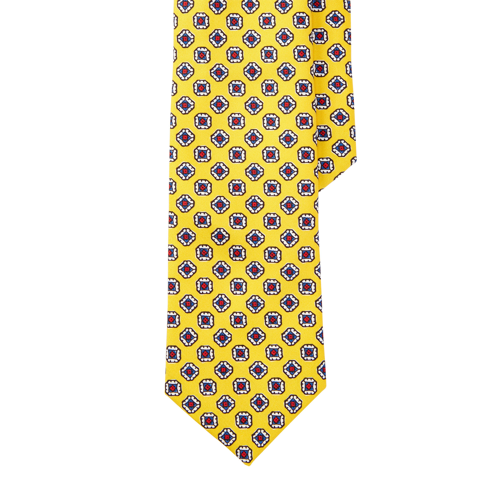 ff8eb10bbe4e Polo Ralph Lauren Patterned Silk Tie in Yellow for Men - Lyst