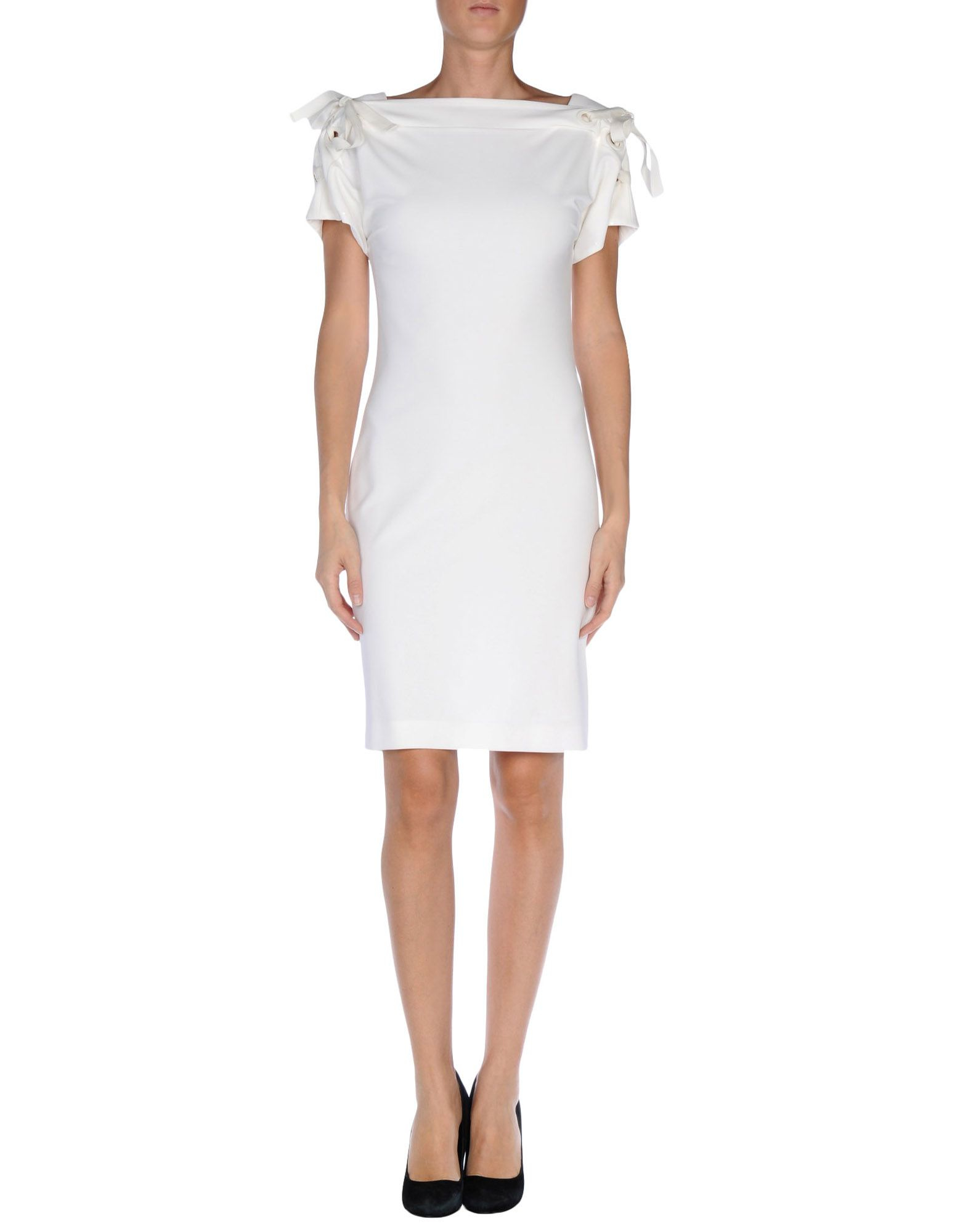 lyst gucci short dress in white