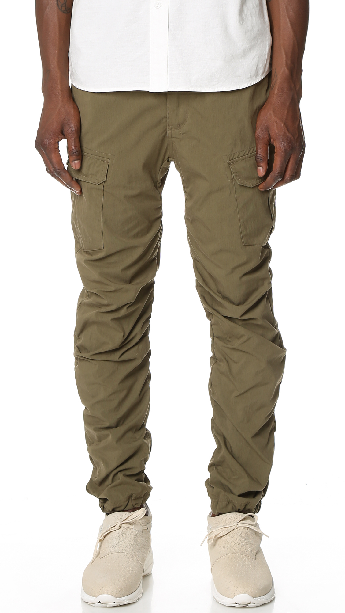 White mountaineering Cotton Nylon Cargo Pants in Brown for Men | Lyst