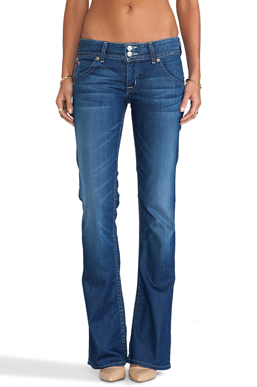 lyst hudson jeans signature bootcut jean in blue. Black Bedroom Furniture Sets. Home Design Ideas