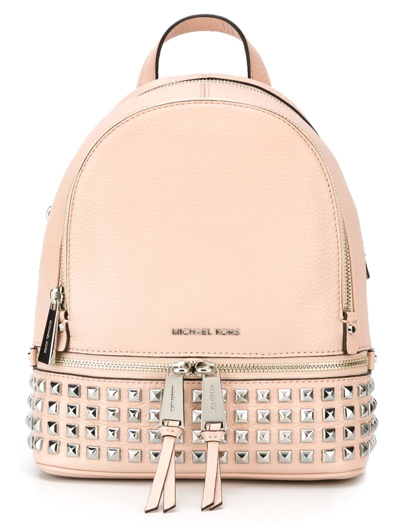 Michael michael kors 'rhea' Backpack in Pink | Lyst