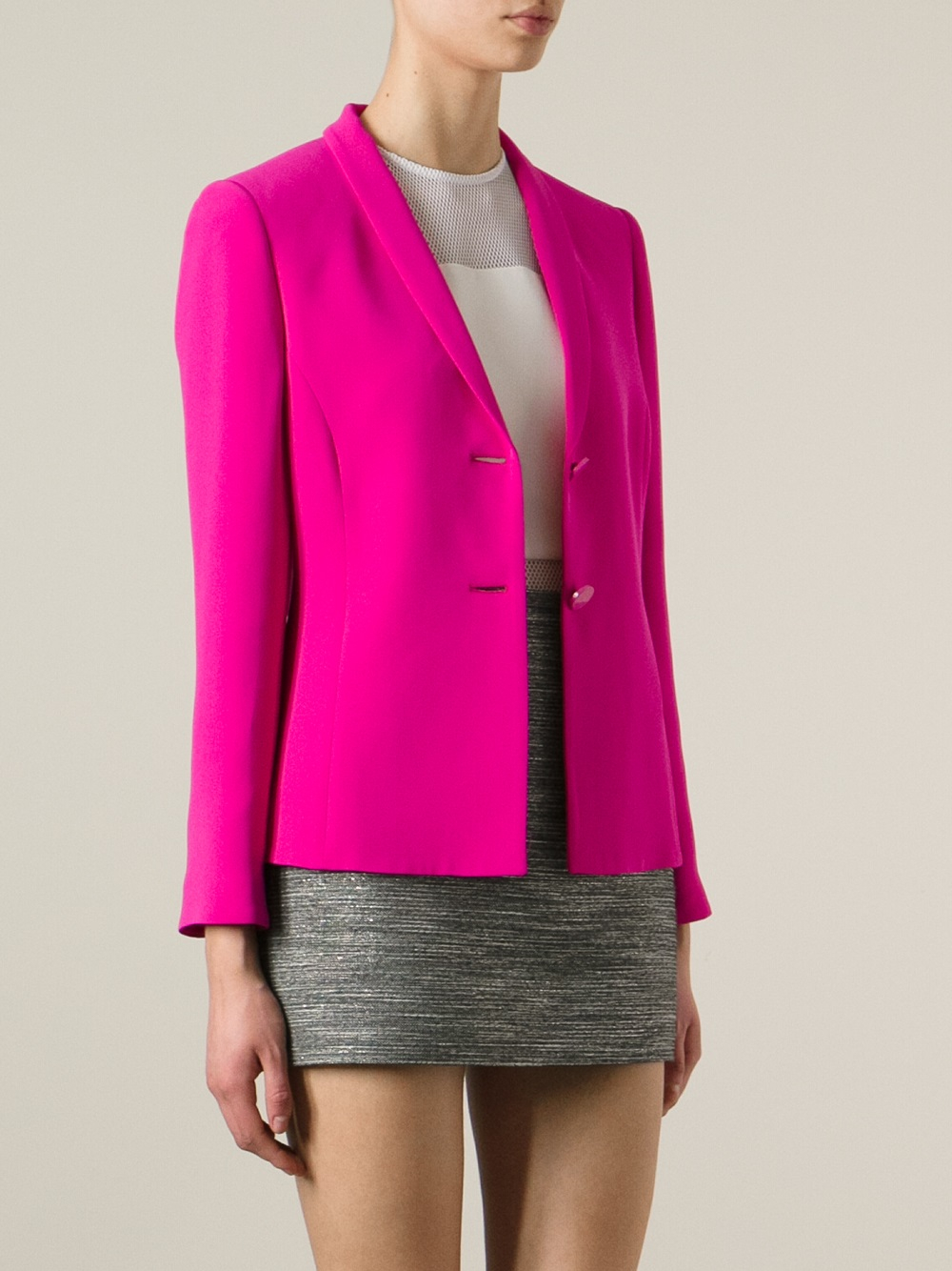 Lyst Giorgio Armani Classic Blazer In Pink