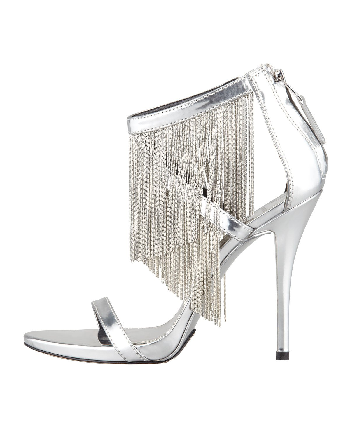 outlet pictures B Brian Atwood Embossed Fringe Sandals clearance online fake on hot sale 8Kc4M