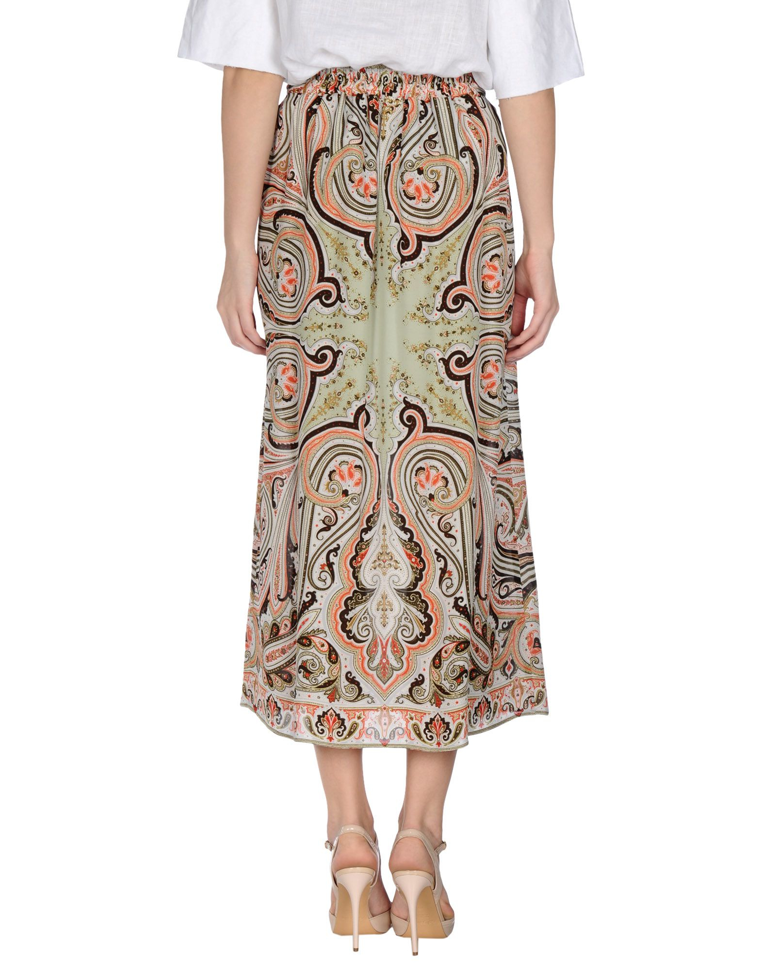 Etro Long Skirt in Red | Lyst