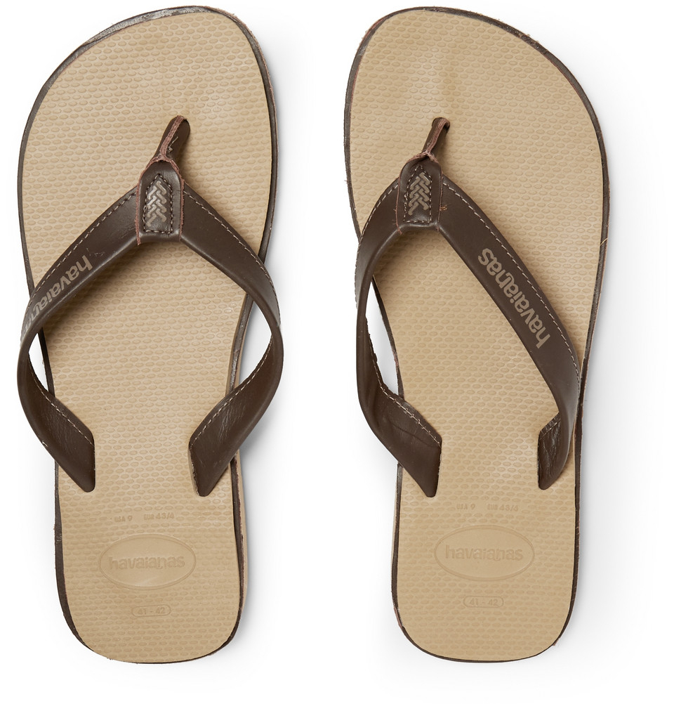 bc4f5b30c9694 Lyst - Havaianas Urban Premium Leather And Rubber Flip Flops in ...