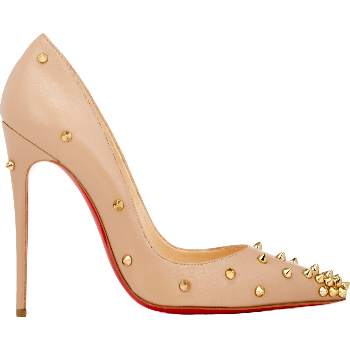 christian louboutin degraspike studded leather pumps