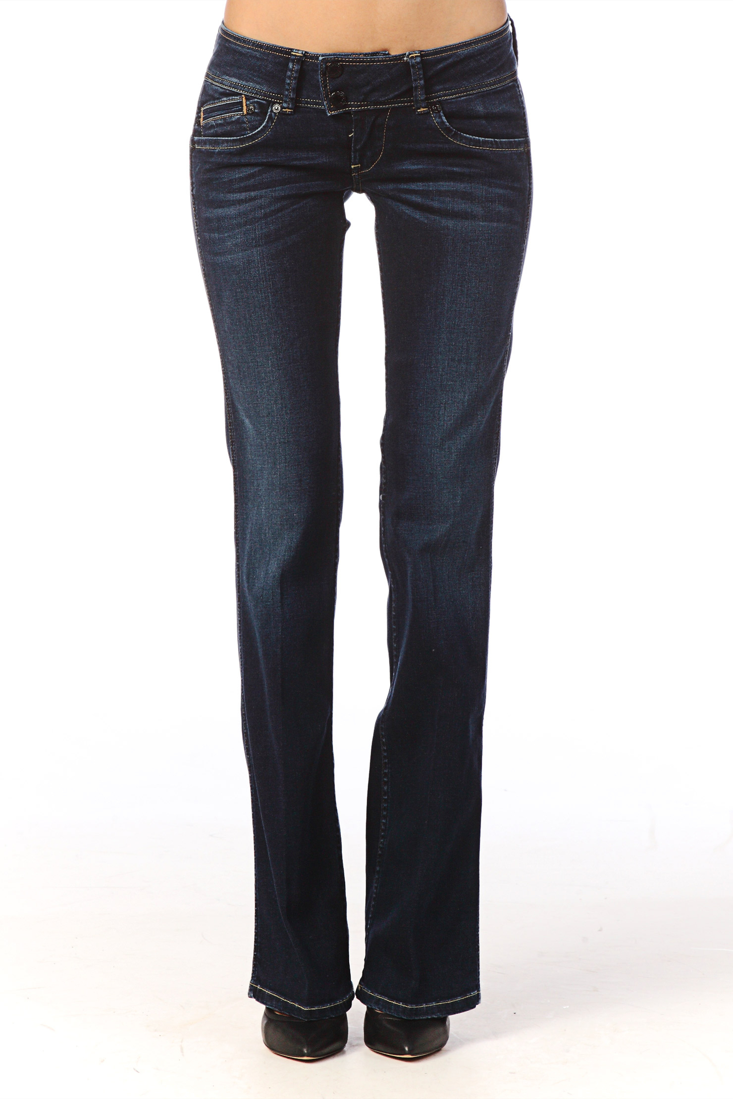 pepe jeans flare bootcut in blue lyst. Black Bedroom Furniture Sets. Home Design Ideas