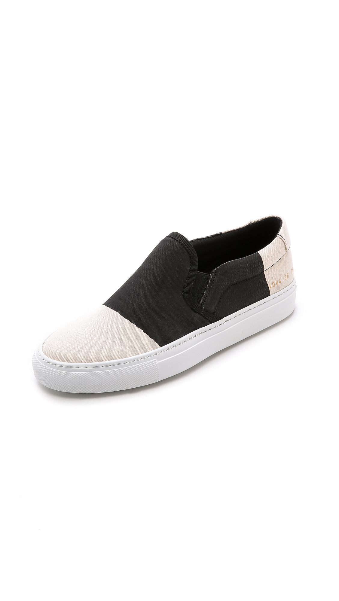 2f075b62e3ab Lyst - 6397 X Common Projects Slip On Sneakers - Black Combo in Black